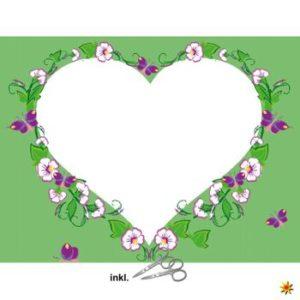 Herzlaken Blumenranke